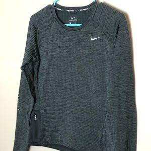 Nike running shirt, gray, small